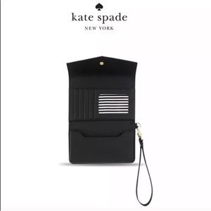 Kate Spade Iphone Case/ Leather wallet wristlet